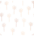 rose gold copper foil abstract palm trees pattern vector image vector image
