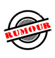 rumour rubber stamp vector image vector image