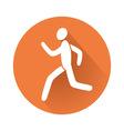 running man symbol vector image vector image