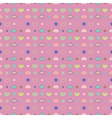 Seamless pattern Polka dot with circles and hearts vector image
