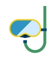 Snorkeling diver mask vector image vector image