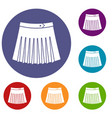 tennis female skirt icons set vector image vector image