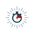 timer icon fast time logo fast delivery express vector image vector image