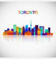 Toronto skyline silhouette in colorful geometric