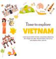 vietnam landmarks set architecture famous place vector image vector image
