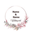 wedding wreath watercolor save date pink vector image vector image