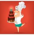 Cartoon Lady Chef vector image
