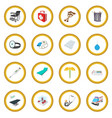 medical isometric 3d icon circle vector image