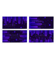 abstract banners set with violet flow vector image vector image