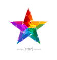 Abstract star Overlying star shapes on white vector image vector image