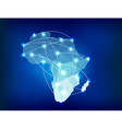 Africa map polygonal with spot lights places vector image vector image
