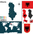 Albania map vector image