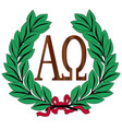 alpha to omega wreath vector image vector image