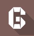 alphabet paper cut letter vector image vector image