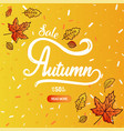 autumn calligraphy banner vector image vector image