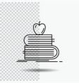 back to school school student books apple line vector image vector image