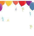 balloon confetti decoration party funny vector image vector image