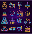 batoys neon icons vector image vector image