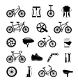 Bicycle accessories black icons set vector image vector image