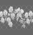 black and white floral background texture vector image vector image