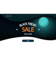 black friday sale up to 25 off horizontal vector image