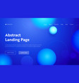blue abstract geometric circle shape landing page vector image vector image