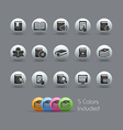 Books Icons Pearly Series vector image vector image