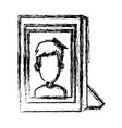 boy picture frame vector image