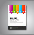 brochure layout design image vector image