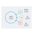 business infographic organization chart with 3 vector image vector image
