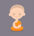 cartoon buddhist monk southeast asia vector image vector image