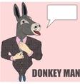 Cartoon character donkey vector image vector image