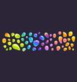 cartoon colorful glue drops set color blobs vector image vector image