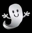 cartoon ghost vector image vector image