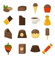 Chocolate symbols vector image