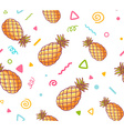 colorful pattern with pineapples on white vector image vector image