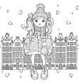 cute girl in winter hat vector image