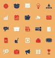 Data and information classic color icons with vector image vector image