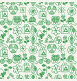 ecology seamless pattern with thin line icons vector image vector image