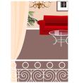 Elegant Balcony Lounge Interior vector image vector image