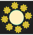 Elegant round frame with yellow narcissuses vector image vector image