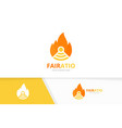 fire and wifi logo combination flame and vector image vector image