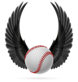 Flying baseball vector image vector image