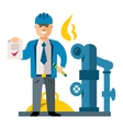 Gas Manager Flat style colorful Cartoon vector image vector image