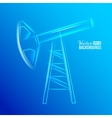 Glass oil pump vector image