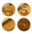golden coins 3d icon set vector image vector image