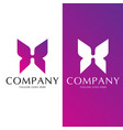 h letter butterfly concept vector image