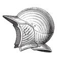 helmet vintage engraving vector image vector image