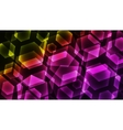 Hexagon Digital Technology Colorful Background vector image vector image