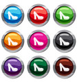 high heel shoes set 9 collection vector image vector image